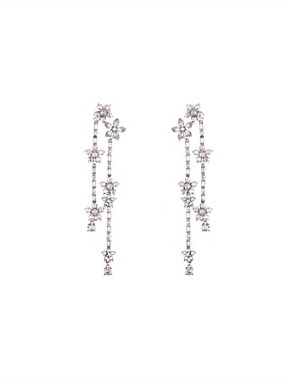 MULTI FLORAL CRYSTAL DROP EARRING