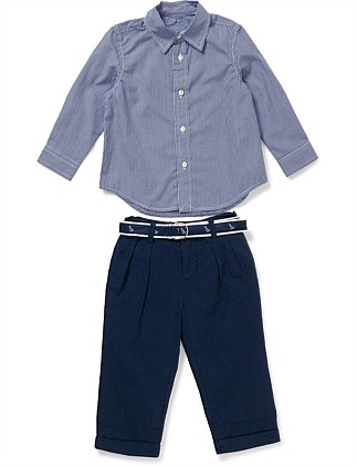 BABY BOY BROADCLOTH PANT SET (6-24 Months)