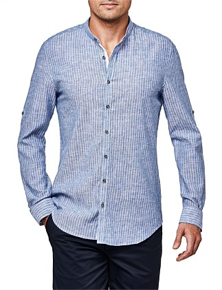 Khallid Relaxed Fit Striped Shirt