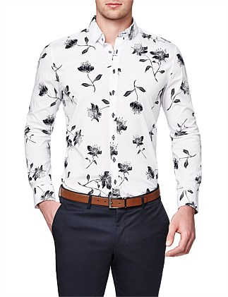Thurlow Slim Stretch Fit Floral Shirt