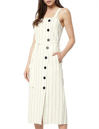Button Linen Dress