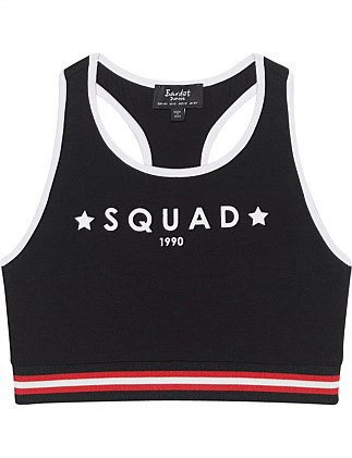 Squad Sports Crop (Girls 8-14 Years)