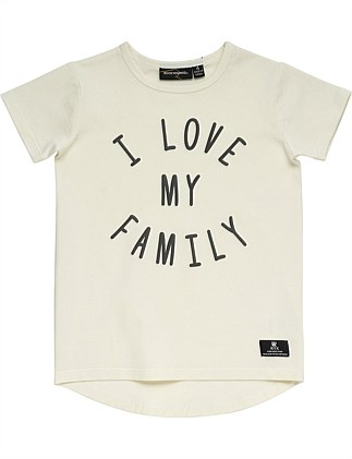 I Love My Family S/S T-Shirt (Girls 3-8 Years)