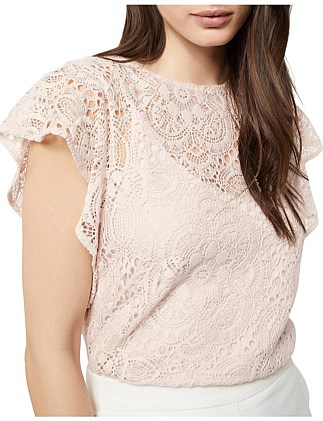 Lace Cap Sleeve Top