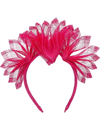 PLEATED SINAMAY HEADBAND