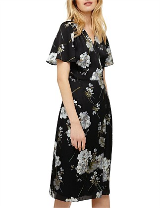 94db3cc8ef5 TASHA FLORAL WRAP DRESS DJ On Sale