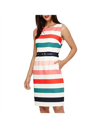 FAYE STRIPED DRESS