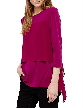 WYNNE WOVEN LAYER TOP