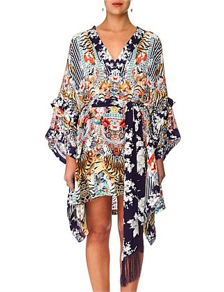 The Lonely Wild Double Layer Kimono Sleeve Dress