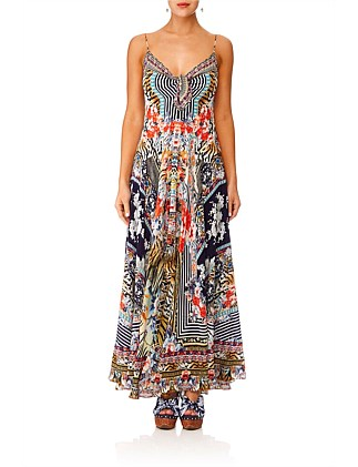 The Lonely Wild Long Dress W/ Tie Front