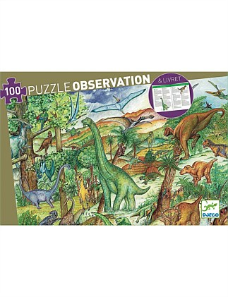 Djeco Dinosaurs 100pc Observation Puzzle