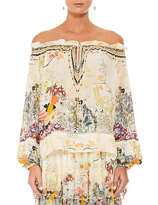 Lady Labyrinth Off The Shoulder Blouse
