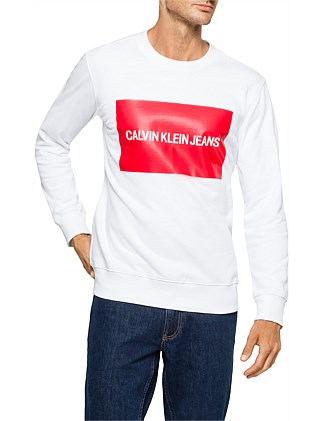 be610046636 INSTITUTIONAL BOX LOGO SWEATSHIRT. Calvin Klein