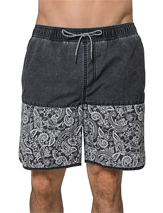 FLORAL PAISLEY JET BOARD SHORT