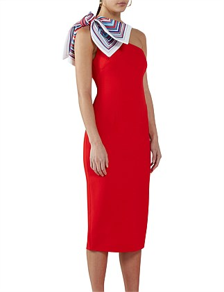 Chilli Sculpture Sleeve Midi Dress