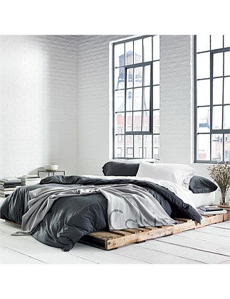 MODERN COTTON CHARCOAL QUEEN BED DUVET