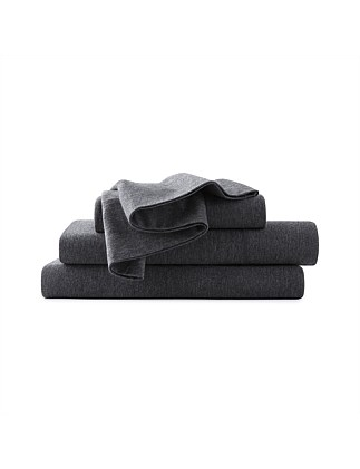 MODERN COTTON CHARCOAL QUEEN BED FLAT SHEET