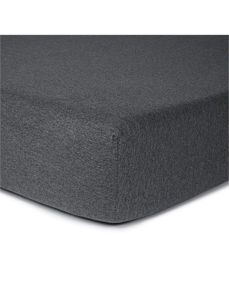 MODERN COTTON CHARCOAL SINGLE FITTED SHEET