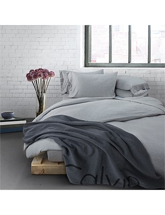 MODERN COTTON GREY SINGLE BED DUVET