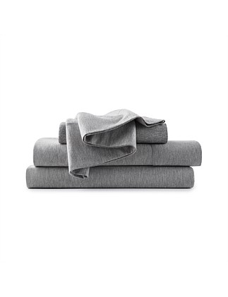 MODERN COTTON GREY QUEEN BED FLAT SHEET