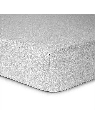 MODERN COTTON GREY DOUBLE BED FITTED SHEET