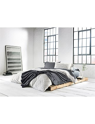 MODERN COTTON MARBLE GREY SINGLE BED DUVET