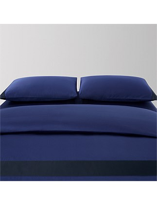 JOAN COBALT QUEEN BED DUVET COVER 210X210