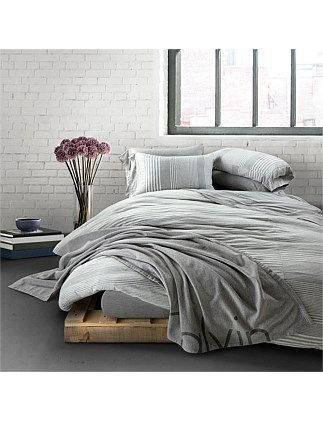 MODERN COTTON RHYTHM GREY SINGLE BED DUVET