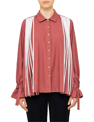 Flared Pleated Shirt