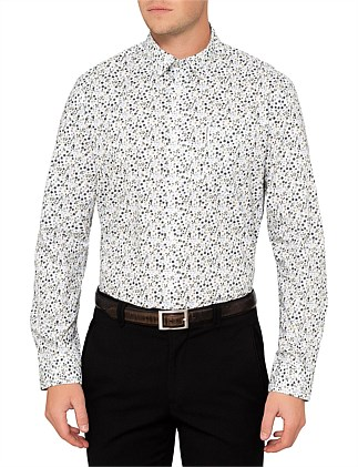 LS MICRO FLORAL SHIRT