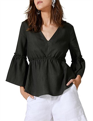 28e4bdcc8c8453 Frill Sleeve Blouse Special Offer DJ On Sale