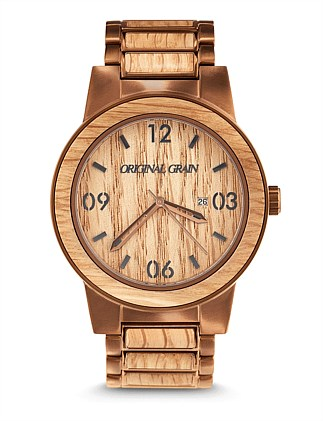 Barrel Whiskey Wood Watch
