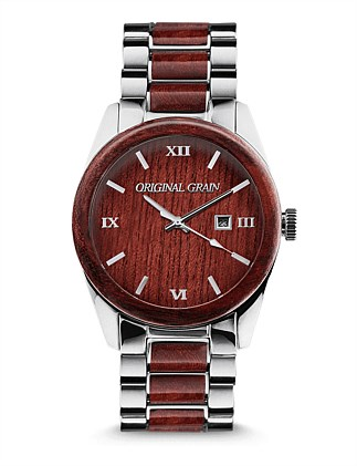 Classic Rosewood Chrome Watch