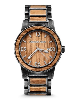 Barrel Koa Wood Stonewash Watch