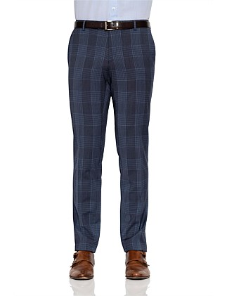 WOOL WINDOWPANE CHECK TROUSER