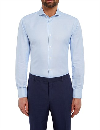 CHESTER BARRIE TEXTURED WEAVE SHIRT