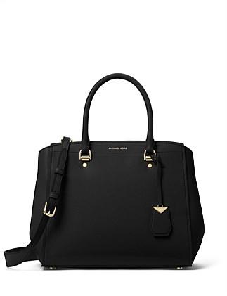 9b44eba06 ... discount code for benning large leather satchel on sale. michael kors  c9af1 ab656