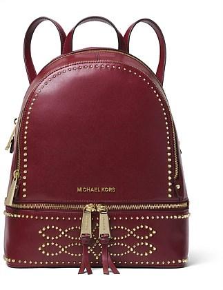 Rhea Medium Studded Leather Backpack Michael Kors