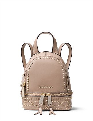 45c21d0f1c3f Rhea Mini Studded Leather Backpack DJ On Sale. Michael Kors
