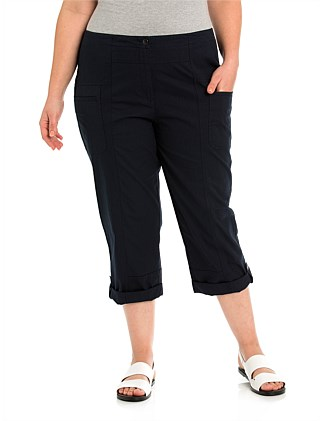 Panelled Washer Cotton Pant