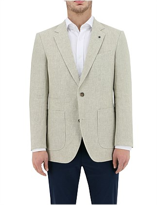 2B SB SV LINEN TEXTURED LINED PATCH JACKET