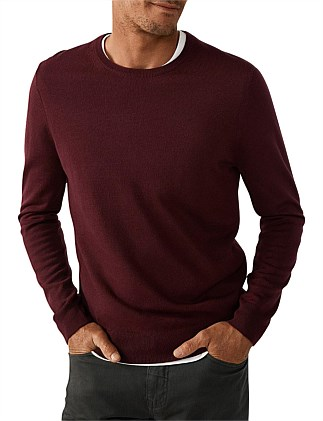 f82437cd46d Merino Wool Crew Neck Knit Special Offer