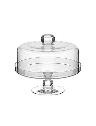 CAKE STAND WITH DOME 24.5CM