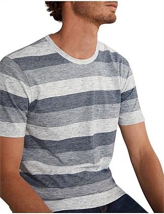 9faf068038e6c6 Multi Striped Cotton T-Shirt ...