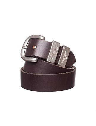 "1 1/2"" 3 Piece Solid Hide Leather Belt"