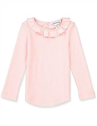 Frill Detail T-Shirt (Baby Girls 0-2)
