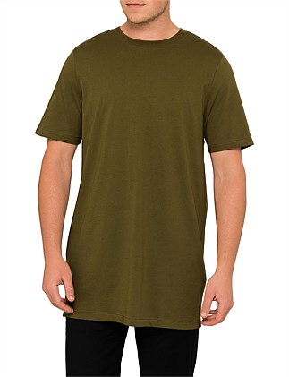 Plain T-Shirt With Raw Edges