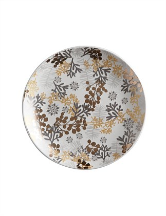 Yuletide Plate Round 16cm Evergreen Gift Boxed