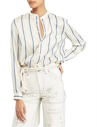 Stripe Mandarin Shirt
