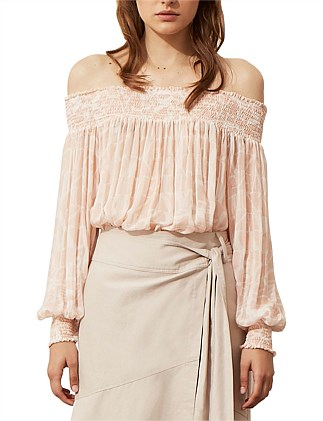 LOVE AND UNITY OFF-SHOULDER TOP